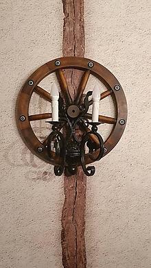 Svietidlá a sviečky - Nástenná lampa koleso 50cm - 13392212_