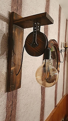 Svietidlá a sviečky - Lampa kladka - 13392255_