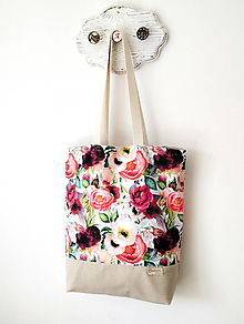 Nákupné tašky - Taška kvetová záhrada - 13392816_