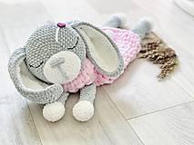 Detské doplnky - Pyžamkožrút zajko ružový - 13390288_