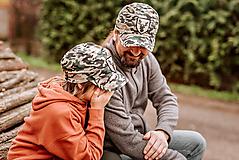 Detské čiapky - šiltovka military detská - 13393033_