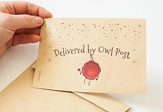 """Papier - Craft obálka / Recyklovaná C6 """" Owl Post"""" - 13391881_"""