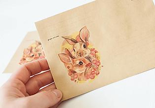 """Papier - Craft obálka / Recyklovaná C6 """"Bunnies"""" - 13392015_"""