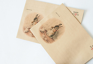 "Papier - Craft obálka / Recyklovaná C6 ""Bunny"" - 13392093_"