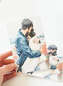 """Papier - Pohľadnica """"v objatí"""" - 13392559_"""