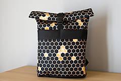 Batohy - Rolovací batoh Zlaté plástve - velký - 13390292_