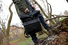 Batohy - Rolovací batoh Černý - velký - 13390308_