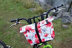 Iné tašky - Taštička na řidítka vlčí máky - velká - 13390361_