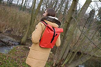 Batohy - Rolovací batoh Oranžový - střední - 13390516_