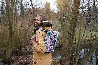 Batohy - Rolovací batoh Barevná zahrada - střední - 13390584_