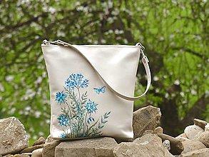 """Kabelky - EVA """"Flowers"""" kožená kabelka s maľbou - 13391943_"""