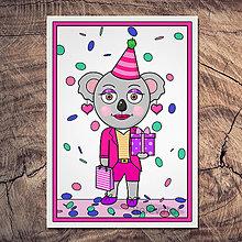 Papiernictvo - Koala pohľadnica - Karen - 13390815_