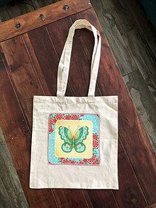 Nákupné tašky - Taška motýľ 1 - 13393836_