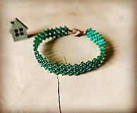 Náramky - Smaragd - 13394670_