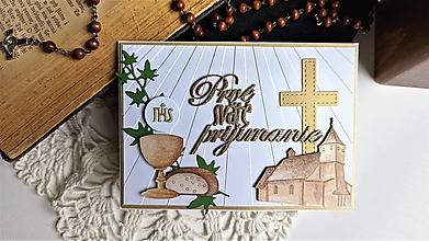 Papiernictvo - Prvé sväté prijímanie pohľadnica - 13394358_