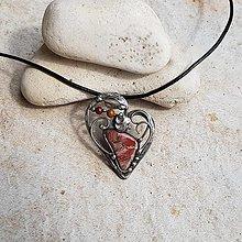 Náhrdelníky - IVANA heart náhrdelník - 13394133_