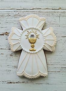 Dekorácie - Kríž na 1.sväté prijímanie - 13394865_