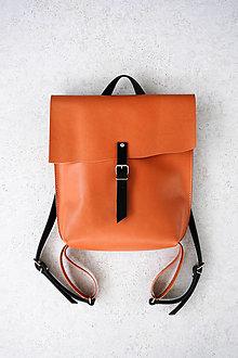 Batohy - kožený batoh_oranžovo-hnedý_craft - 13395349_