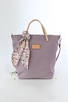 """Veľké tašky - Veľká elegantná kabelka z nepremokavého ľanu """"Oldrose"""" - 13394488_"""