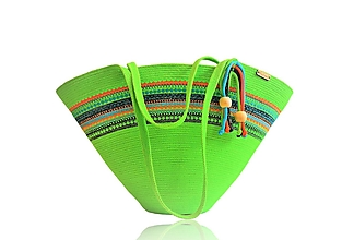 Veľké tašky - Letní kabelka s výšivkou 1998 - 13393123_