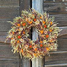 Dekorácie - Oranžový veniec na dvere - 13394544_