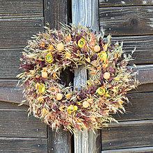 Dekorácie - Oranžový veniec na dvere - 13394623_