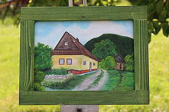 Obrazy - Chalúpka z Vlkolínca - 13394691_