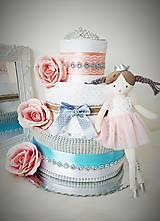 Detské doplnky - Plienková torta Malá princezná - 13394867_