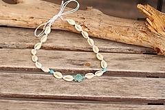 Sady šperkov - Mušľový Choker s korytnačkou - 13396083_