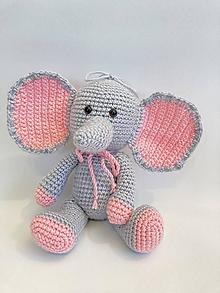 Hračky - sloník s veľkými ušami - 13395539_