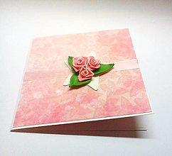 Papiernictvo - Pohľadnica ... (nielen) svadobné ruže - 13397734_