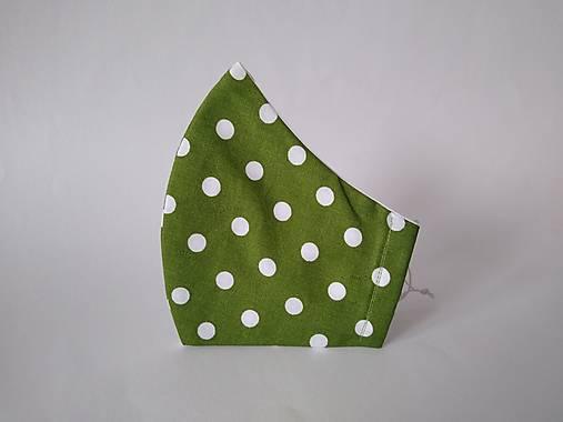 Dizajnové rúško bodka na zelenej II.
