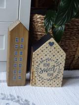Dekorácie - Sada drevených domčekov - 13396875_