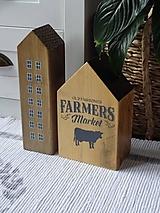 Dekorácie - Sada drevených domčekov - 13396877_