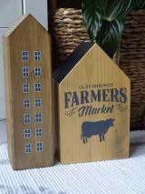 Dekorácie - Sada drevených domčekov - 13396878_