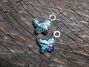 Náhrdelníky - opals-butterflys-2ks-striebro- - 13399997_