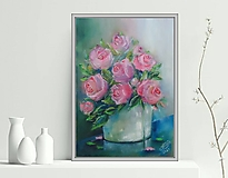 Obrazy - Ruže vo váze 33x24 - 13397519_