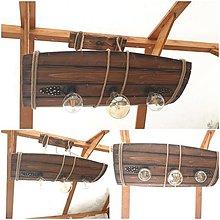 Svietidlá a sviečky - Luster dreveny sud - 13396950_