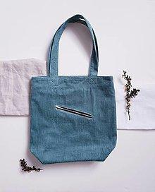 Nákupné tašky - Taška - Cord green - 13399387_
