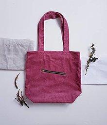 Nákupné tašky - Taška - Cord pink - 13399395_
