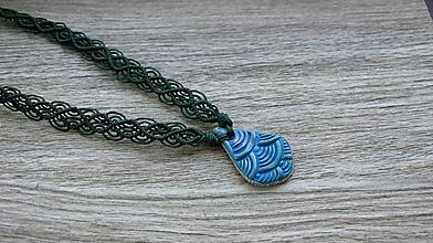Náhrdelníky - Náhrdelník morská kvapka, č. 3385 - 13396589_