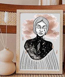 Grafika - Art print ilustrácie KREHKÁ NA KOSŤ - grafika - 13398483_