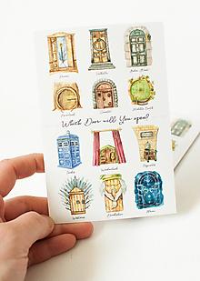 "Papier - Pohľadnica ""Which door will You open?"" - 13399896_"