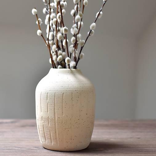 """Dekorácie - Kameninová váza """"Heaven"""" malá - 13397063_"""