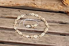 Sady šperkov - Mušľový Choker s hviezdicami z howlitu - 13396560_