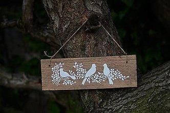 Tabuľky - Tabuľka s vtáčikmi - 13404017_