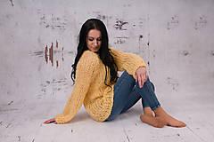 - Oversized sveter LENA, alpaca, merino - 13400082_