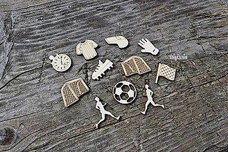 Materiál ručne robený - Futbal...mini výrezy 11ks - 13400108_