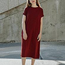 Šaty - Šaty Bordó Long - 13401099_