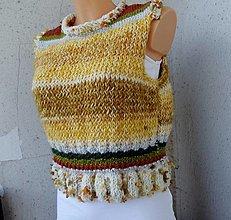 Iné oblečenie - pletená vesta s patentom - 13400156_